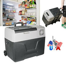 40L Portable Mini Refrigerator Cooler Frozen for Travel Camping Fishing W Wheel