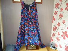 Autonomy Georgette Lined Hankey Hem Dress size 18 poss sz 20 Butterfly Pattern