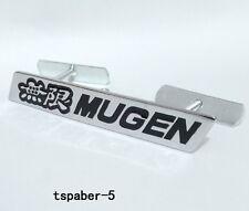 Black MUGEN Grill Grille Emblem Front Badge Nameplate For Japan Car Tuning
