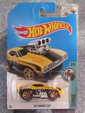 Hot Wheels 2017 Case D Treasure Hunt 1969 CAMARO Z28 yellow Tooned Long Card