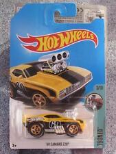 Hot Wheels 2017 Case D Treasure Hunt 1969 CAMARO Z28 yellow Tooned Long Card