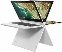 "New Lenovo 11.6"" Touchscreen 2-in-1 Chromebook/2.1GHz/4GB/32GB eMMC/Blth/White"