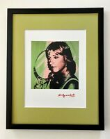 ANDY WARHOL AWESOME 1984 SIGNED CHRIS EVERT PRINT MATTED TO BE FRAMED 11X14