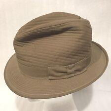 Vintage Packable Men's Beige Fedora Hat Size Medium 7-7 1/2 USA
