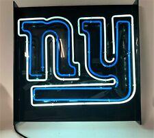"New York Giants Logo Bar Lamp Beer Real Glass Neon Light Sign 22""x22"""