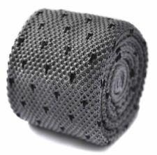 Cravatte da uomo neri 100% Seta