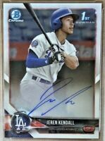 2018 Bowman Chrome JEREN KENDALL Autograph Rookie #CPA-JK Los Angeles Dodgers RC