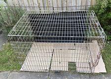Rosewood Dog Kennel  Metal Large Easy Access Door Gated Windows Nickel Steal