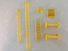 Marx Guns of Navarone Yellow Accessories: Rifle Rack, Bench, Ladders & Bunks