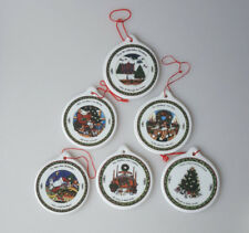 Susan Winget Night Before Christmas 6 porcelain ornaments A Christmas Story