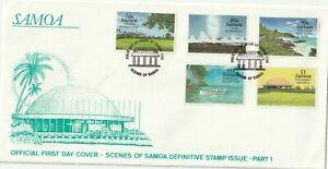 1995 Samoa FDC cover Landscapes