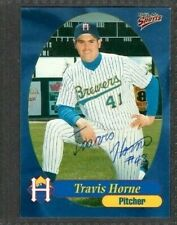1999 Multi-Ad #27 Travis Horne Helena Brewers Baseball Signed Autograph (B44)