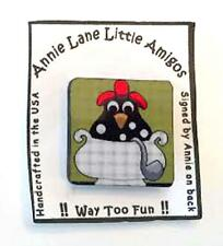 Hen ~ Chicken Soup Magnet Needle Holder for Needlepoint, Sewing by Annie Lane