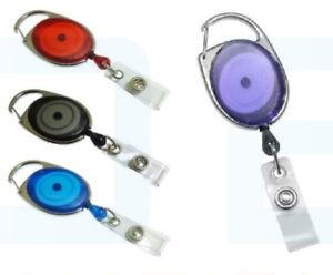 Premier Ski Retractable Key Reel Recoil Yo Yo Badge Reel Lanyard Belt Clip