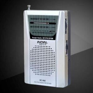 Good Quality Universal Portable Pocket Radio AM/FM Receiver Built in Speaker