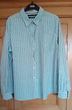 Tommy Hilfiger Ladies Light Blue Striped Frilled Long Sleeve Shirt, size XL