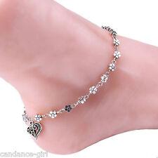 Anklet Bracelet Sandal Foot Jewelry Gift Vogue Women Girls Flower Bead Chain