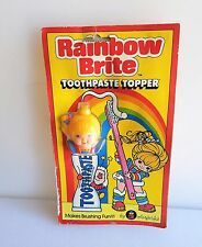 VINTAGE 1983 RAINBOW BRITE TOOTHPASTE TOPPER BY COLORFORMS NEW SEALED