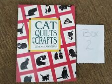 CAT Quilts & crafts book by Langeman tablecloth Christmas tree skirt stocking