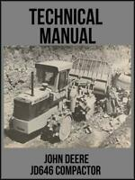 John Deere JD646 Compactor Technical Manual TM1073 On USB Drive