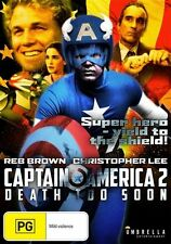 Captain America II - Death Too Soon (DVD, 2014) NEW CHRISTOPHER LEE, ALL REGIONS