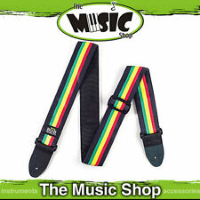 "Jim Dunlop Bob Marley ""Proflile"" Adjustable 2"" Guitar Strap - D46B Rasta Stripes"