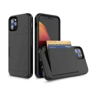 For iPhone 12 11 Pro Max Mini XS XR Shockproof Card Holder Wallet Cover Case