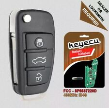 Replacement Remote key Fob 433MHz for Audi A3 S3 RS3 TT TTS TTRS - 8P0 837 220 D