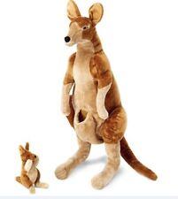 Melissa & Doug Giant Kangaroo and Baby Joey in Pouch - Lifelike Stuffed Animal