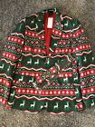 Mens Suitmeister Christmas Suit Jacket & Tie. Holiday Party Ugly Sweater M