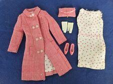 Vintage Barbie Francie Shoppin' Spree #1261 Coat Dress Purse Gloves Shoes