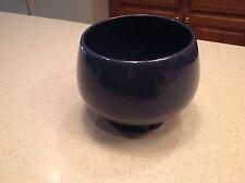 Frankoma Pottery #235 Rare Color Planter Pot Bowl Cog Wheel Pedestal Deep Blue