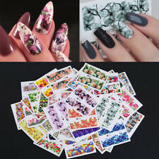 50 Sheets Flower Nail Water Decals Rose Starry Sky Nail Art Transfer Stickers