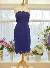 STUNNING! *MONSOON* BLUE FLORAL 3D STRAPLESS COCKTAIL PARTY DRESS UK 10