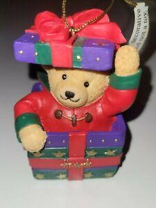 Harrods Christmas  Resin Teddy Bear Tree Ornament Decoration William 2003?
