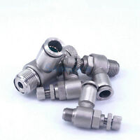 Multiple Stainless Steel Speed Regulating Valve Pneumatic Elbow Quick Fitting