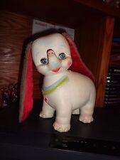 """Vintage Elephant Toy Edward Mobley 1962 Rubber Sleepy Eyes Squeaker 10"""" Cute"""
