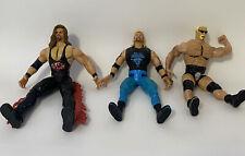 WWE WCW Wrestling Figures Vintage 90s Titan Sports Toy Biz Lot of 3 Marvel