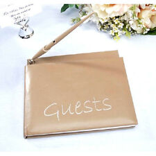 Guest Book With Pen Taupe Wedding Anniversary Party Graduation  B220