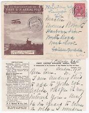 # 1911 1st AERIAL POST EMERGENCY PRINT ENVELOPE & INSERT LONDON REDIRECTED LOOE