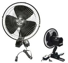 """24V DC 10"""" CLIP ON CAR OSCILLATING FAN 2M CABLE & SPEED CONTROLLER 10 INCH 81540"""