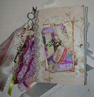 Junk Journal Handmade 2 signature, naked journals with embellishment materials