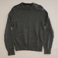 Banana Republic Mens Crew Neck Sweater Size Small Dark Grey Merino Wool Cotton