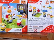 """Despicable Me 3 Minions Collectible """"Cheese Shootout"""" Building Set Mega Construx"""