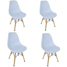 Set of 4 Dining Chairs Mid Century Modern Wooden Legs Kitchen Home Room