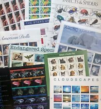 US Lot #5 10 US Stamp Sheets 1996-2010 for LESS than FV, BV=$250