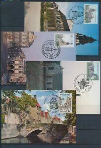 XC79361 Belgium 1984 monuments landmarks maxicards used