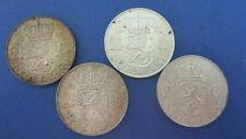 Niederlande Silber 2 1/2 Gulden 1959 vz, 1960 vz+, 1961 ss-vz, 1966 vz(4324)