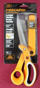 """Fiskars 10"""" inch Amplify Razor Edge Sheers, NEW, Cuts Thick Fabrics, 171010"""