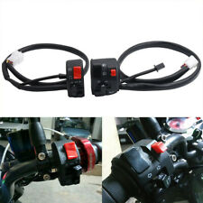 Pair Motorcycle 22mm Handle Bar electric start Lamp Horn Light Switch Waterproof